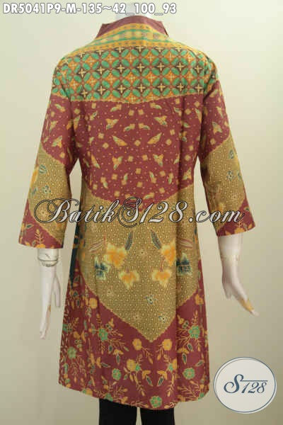Produk Pakaian Batik Wanita Terkini, Baju Batik Modis Istimewa Motif Klasik Model Kerah Langsung Proses Printing Hanya 130 Ribuan, Size M