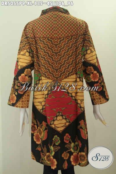 Sedia Baju Batik Wanita Dewasa, Busana Batik Klasik Halus Proses Printing Bahan Adem Untuk Tampil Gaya Dan Mempesona Harga 135 Ribu, Size XL