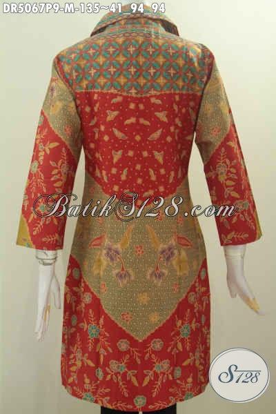 Sedia Baju Kerja Batik ELegan Proses Printing, Produk Baju Batik Solo Kerah Kotak Kwalitas Istimewa Trend Mode 2016, Size M Buat Penampilan Lebih Stylish