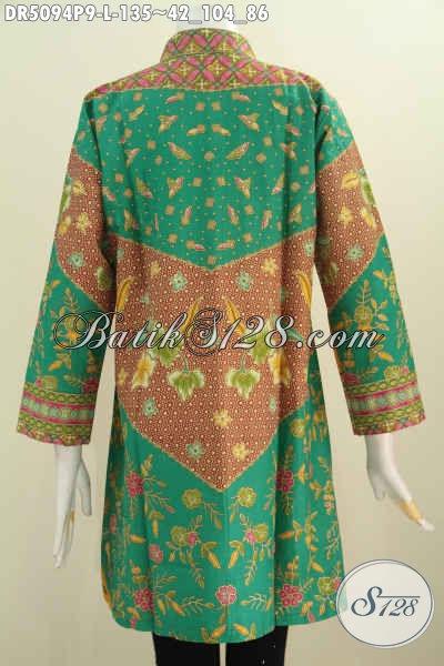 Sedia Produk Pakaian Batik Modis Motif Klasik, Baju Batik Elegan Model Kerah Shanghai Cocok Buat Kerja Dan Kondangan, Size L