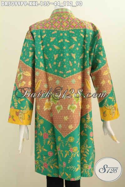 Sedia Pakaian Batik Elegan Motif Klasik Model Kerah Shanghai, Baju Batik Modis Kerah Shanghai Berbahan Adem Untuk Penampilan Trendy Dan Gaya, Size XXL