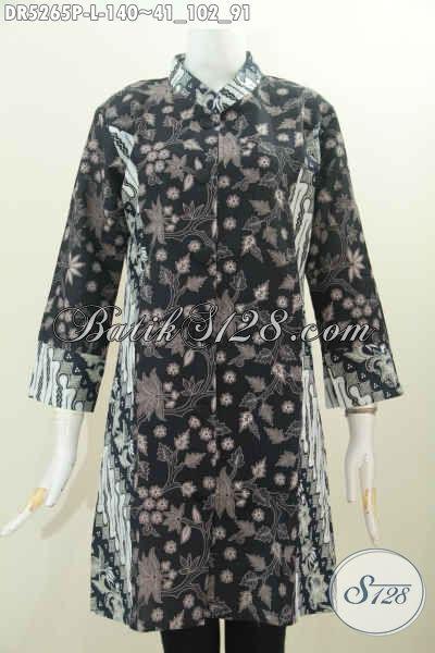 Pakaian Batik Modern Kerah Paspol Shanghai, Busana Batik Halus Nan Istimewa Buatan Solo Untuk Penampilan Lebih Berkelas, Size L