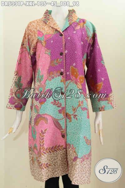 Baju Batik Jumbo Istimewa Busana Batik Halus Model Kerah