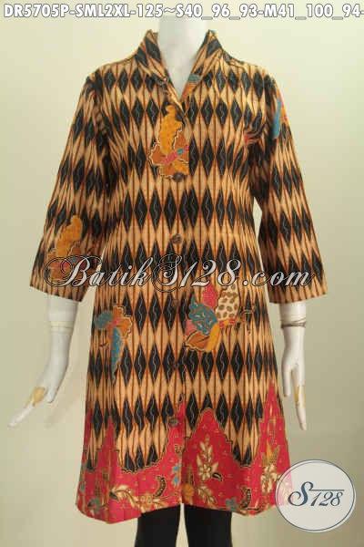 Baju Batik Istimewa Motif Mewah Desain Berkelas Proses Printing, Baju Batik Murmer Buatan Solo Hanya 125K, Size L