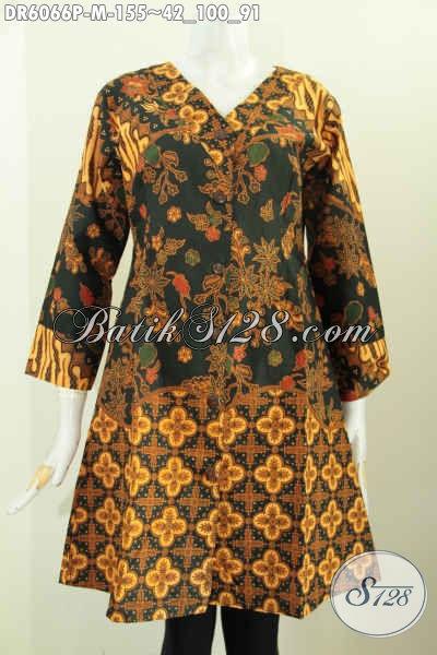 Juragan Baju Batik Online Sedia Dress Batik Lawasan Tiga Motif, Baju Batik Berkelas Untuk Santai Dan Resmi, Size M