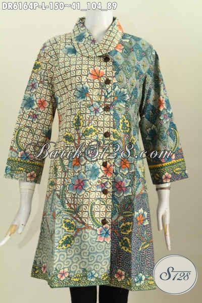 Jual Baju Batik Terusan Pakaian Batik Modern Elegan Kwalitas Bagus