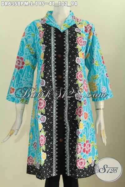 Baju Batik Seragam Kerja Wanita Muda Dan Dewasa Dress Batik Kerah