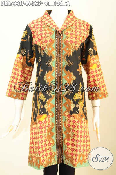 Baju Batik Terusan Busana Batik Wanita Terkini Dress