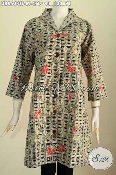 Jual Online Baju Solo Istimewa, Pakaian Batik Halus Motif Berkelas Proses Tulis Daleman Full Furing Harga 470K [DR6508TF-M]