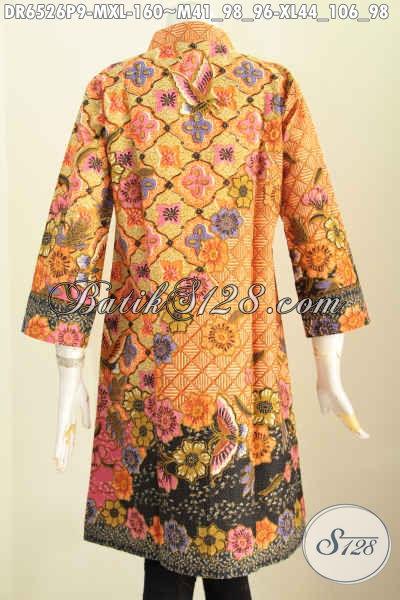 Jual Pakaian Batik Masa Kini, Produk Baju Batik Solo Berkelas Model Kancing Banyak Dan Pake Saku, Berbahan Halus Proses Printing Harga 160 Ribu Saja [DR6526P-XL]