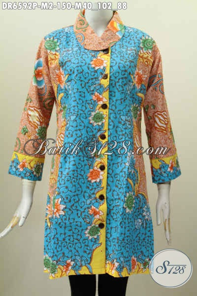 Dress Batik Wanita Muda Warna Warni