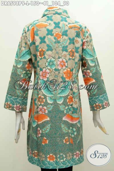Baju Batik Istimewa Dari Solo, Hadir Dengamn Desain Mewah Kerah Miring Bahan Halus Motif Bunga Proses Printing Harga 150 Ribu [DR6598P-L]
