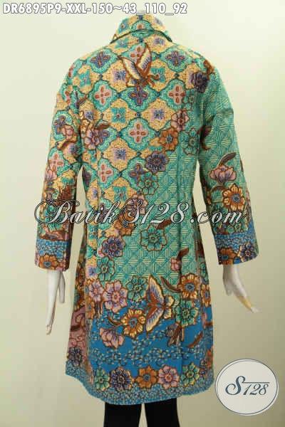 Desain Baju Batik Wanita Kerja Ukuran 3L, Dress Batik ...