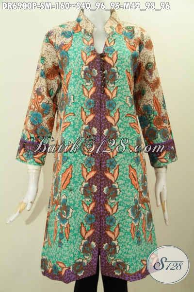 Produk Terbaru Baju Batik Wanita 2017, Foto Baju Batik Kantor Wanita Karir Tampil Modis Dan Bergata [DR6900P-M]