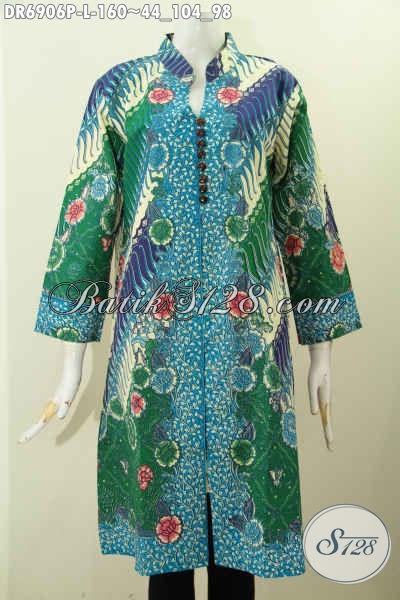 Dress Batik Wanita Muda Dan Dewasa, Foto Baju Kerja Batik Wanita Yan Bikin Penampilan Lebih Istimewa Dan Mempesona [DR6906P-L]