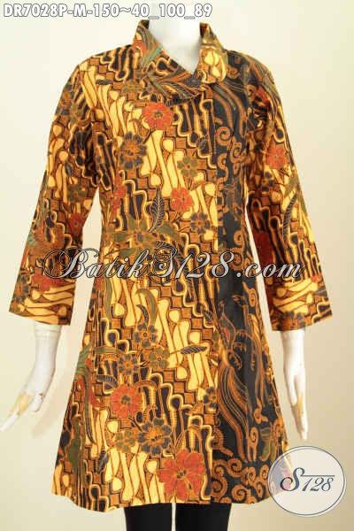 Batik Dress Solo Elegan Klasik Kwalitas Istimewa Motif Kanan Dan  Belakang Sama Proses Printing Harga 150K, Size M
