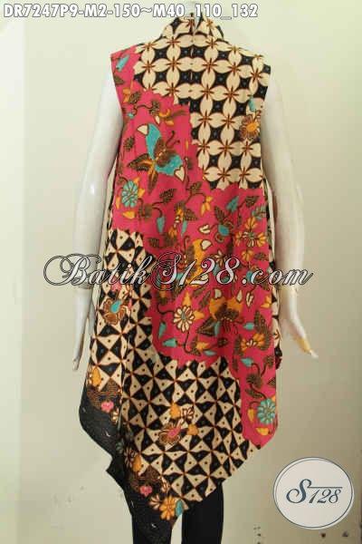 Dress Batik Modern Baju Batik Tanpa Lengan Tampil Beda