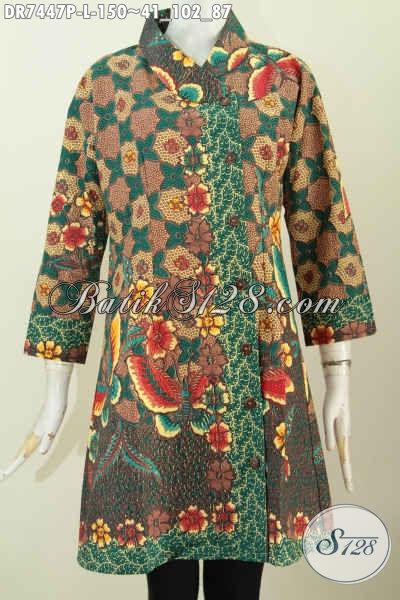 Jual Onlilne Online Batik Dress Solo Terbaru, Busana Batik Elegan Ukuran L Kwalitas Istimewa Untuk Penampilan Yang Sempurna