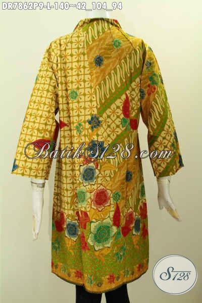 Pusat Pakaian Batik Jawa Terkini, Produk Baju Batik Solo Jawa Tengah Berkelas Proses Printing Model Krah Langsung Hanya 140 Ribu, Size L