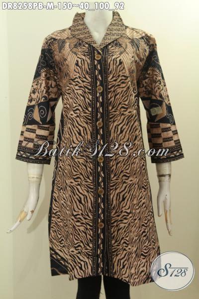 Model Baju Batik Wanita Muda Untuk Tampil Gaya Dan Mempesona, Busana Batik Solo Jawa Tengah Nan Halus Bahan Adem Warna Klasik Nan Elegan Harga 150K, Size M