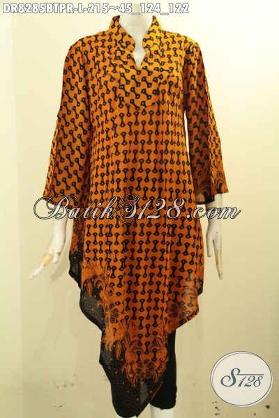 Model Baju Batik Wanita Masa Kini Dengan Motif Klasik Bahan Paris Kombinasi Tulis Kwalitas Istimewa, Di Jual Online 215K [DR8285BTPR-L]