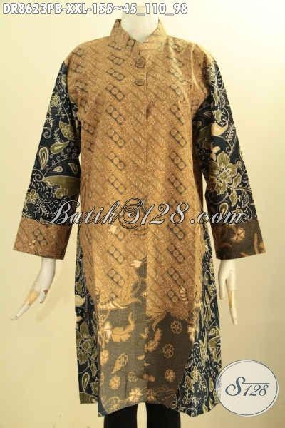 Tunik Batik Dress Jumbo, Pakaian Batik Modern Terbaru, Produk Baju Batik Jawa Tengah Nan Istimewa Harga Terjangkau