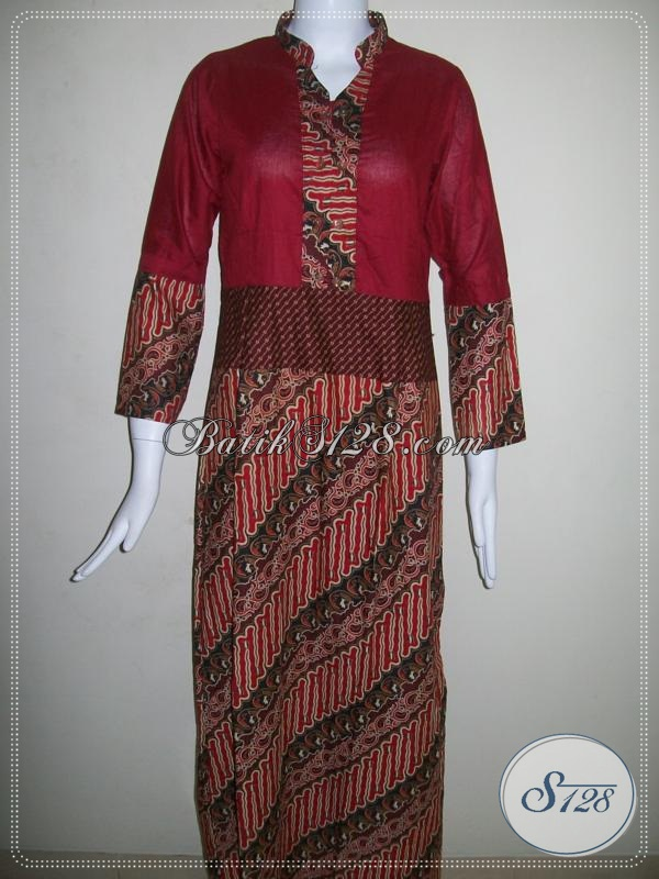 Abaya Batik Asli Batik Solo [G003P-ML]