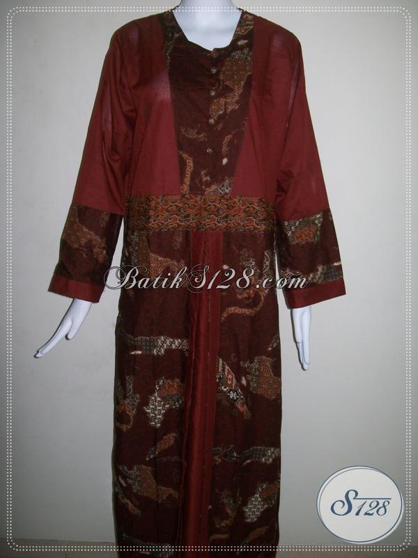 Gamis Batik Model Pias,Gamis Batik Wanita Trendy [G008P-LXL]