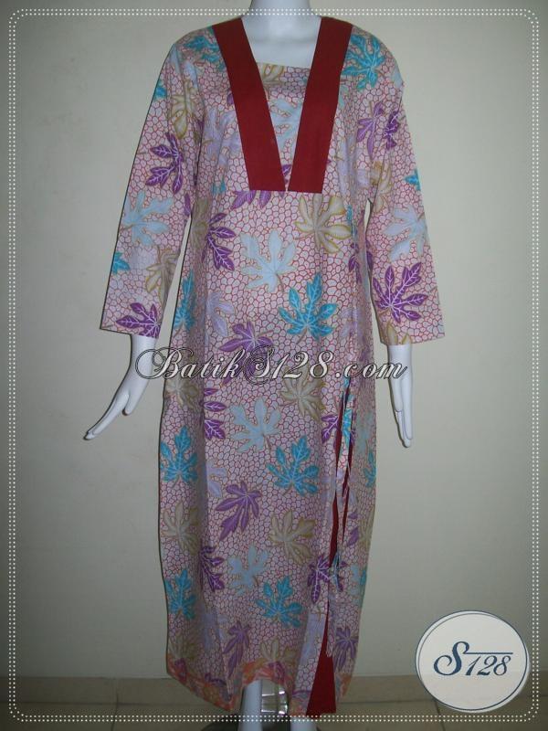 Gamis BAtik Untuk Wanita Hijabers,Asli Gamis Batik Solo [G010P-L]
