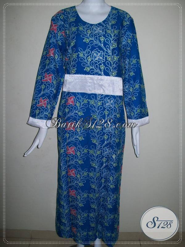 Gamis Abaya Batik Perempuan Muda Untuk Kerja Kantor