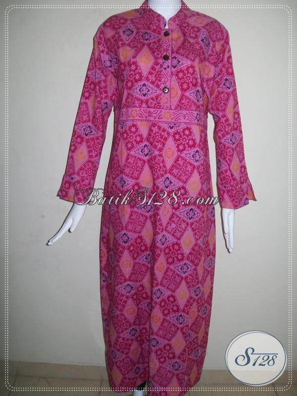 Gamis Batik Wanita Warna Merah Cantik [G024CL]