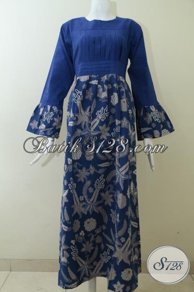 Busana Batik Muslim 2014, Abaya Batik Trendy Motif Bagus Berbahan Halus Sempurnakan Penampilan Perempuan Berkerudung, Size L