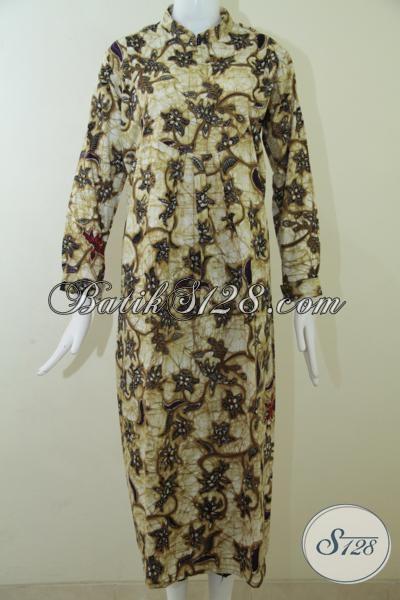 Abaya Batik Model Terbaru Sangat Cocok Untuk Perempuan Muslim Pemakai Jilbab, Batik Gamis Kwalitas Premium Harga Minimum, Size S