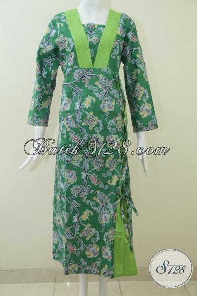 Baju Gamis Batik Murah Berkualitas, Asli Batik Solo Bahan Katun Halus Bagus [G1526P-S]