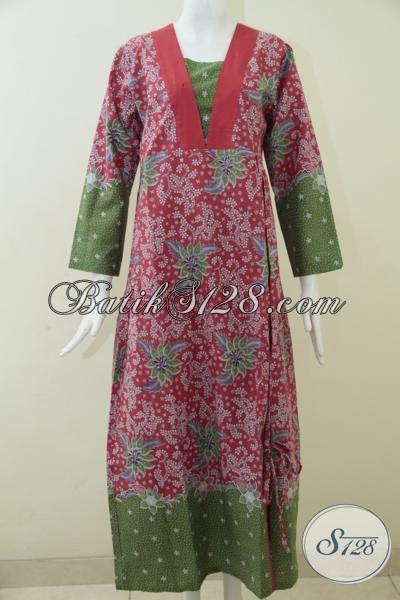 Toko Bagus Abaya Gamis Batik Wanita, Hijabers Modis [G1527P-L]