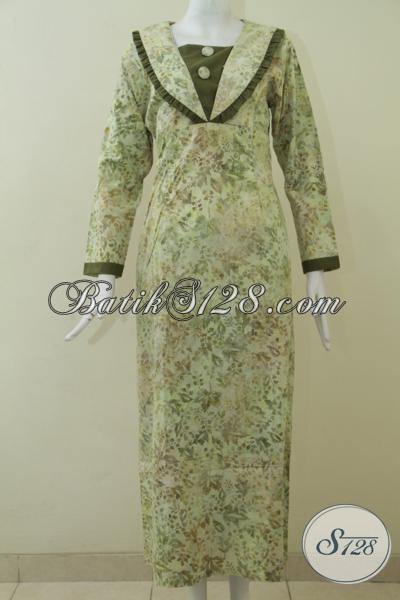 Gamis Batik Trend Model Terkini Dengan Motif Unik Dan Warna Soft