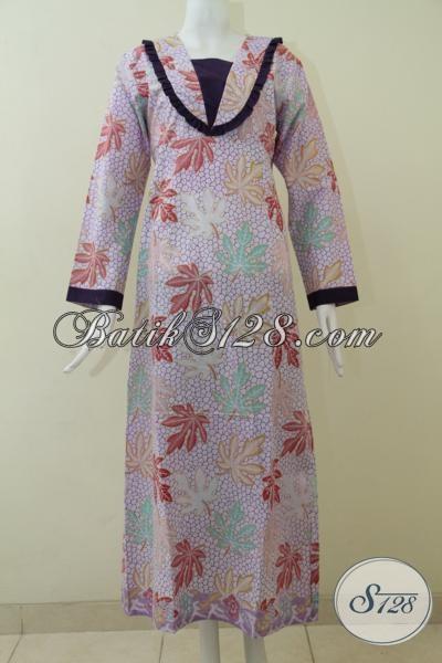 Busana Batik Gamis Model Terbaru Dengan Motif Keren Dan Modern, Baju Batik Kwalitas Bagus Dengan Harga Terjangkau, Size L – XXL