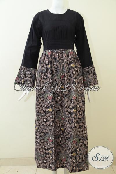 Baju Batik Panjang Model Gamis Untuk Perempuan Muda Dan