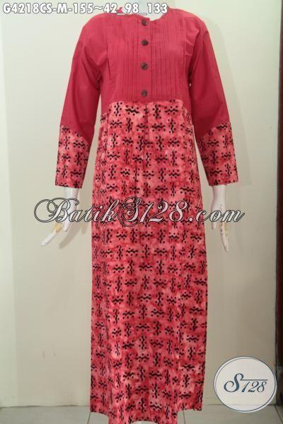 Gamis Batik Wanita Muda Tampil Gaya Dan Anggun, Produk Abaya Batik Halus Motif Unik Proses Cap Smoke Pas Buat Hijabers [G4218CS-M]