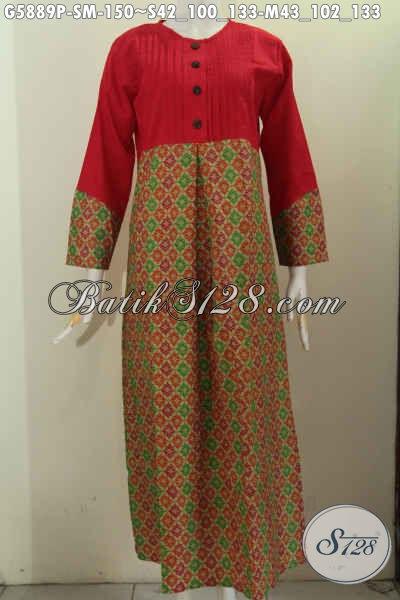 Jual Gamis Batik Desain Berkelas Paduan Kain Polos Baju