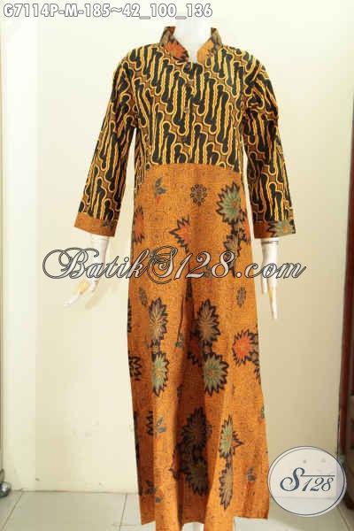 Gamis Batik Klasik Motif Kombinasi Baju Batik Wanita