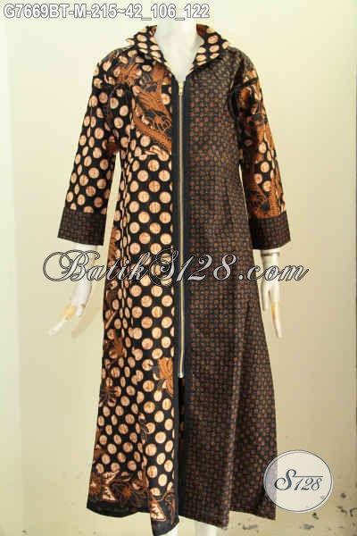 Model Baju Batik Wanita Berjilbab Batik Long Dress Abaya Model