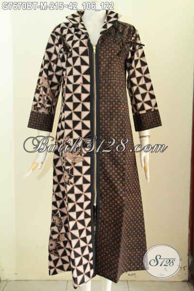 Model gamis batik untuk orang gemuk agar terlihat kurus