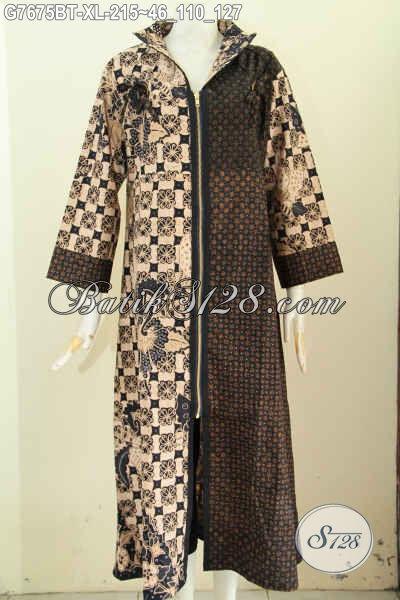 Model Baju Batik Wanita Gamis Kombinasi Paling Populer