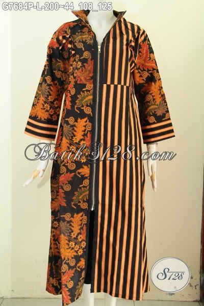 gamis batik ukuran l pakaian batik wanita berhijab dengan