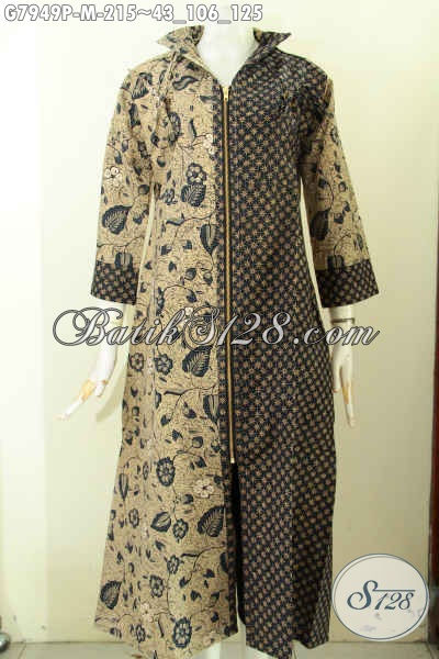 Produk Gamis Batik Wanita Muda 2017, Long Dress Batik Istimewa Yang Bikin Penampilan Lebih Sempurna Dan Menawan Pake Resleting Depan 200 Ribuan Saja [G7949P-M]