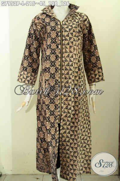 Jual Gamis Batik Solo Elegan Dan Berkelas, Produk Baju Batik Muslim Wanita Masa Kini Desain Mewah Dan Kekinian Harga 200 Ribuan Saja, Size L