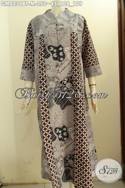 Model Baju Batik Gamis Wanita Muslimah, Busana Batik ...