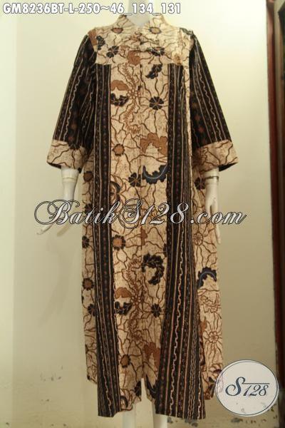Model Baju Batik Wanita Muslim Busana Batik Elegan Gamis Motif