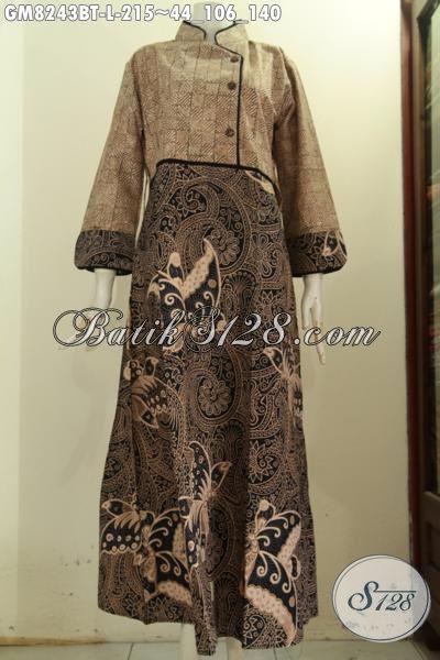 Model Baju Batik Modis Wanita Muslimah Gamis Batik Terbaru Desain